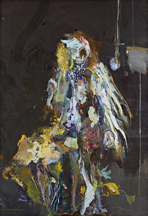 Rudi Kargus, Frisco, Öl auf Leinwand