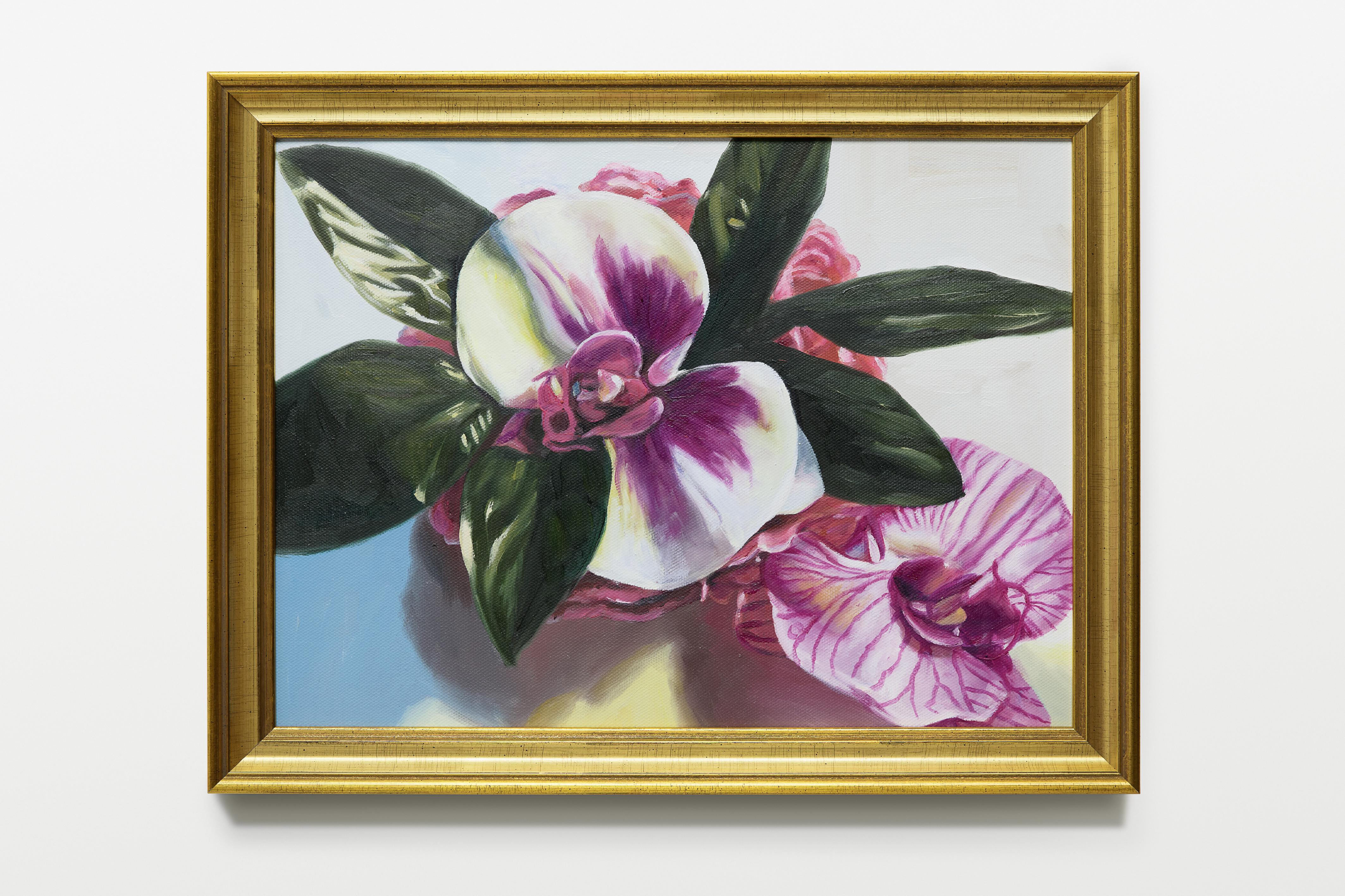 Swantje Güntzel, Plastic Flowers, Öl auf Leinwand