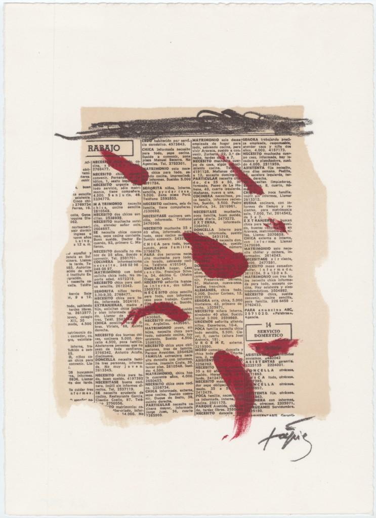 Taches rouges aux journal